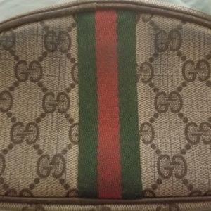 Gucci small vintage makeup bag